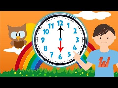 Peuters, Kleuters en Kinderen leren klok kijken - Nederlands / Dutch leren