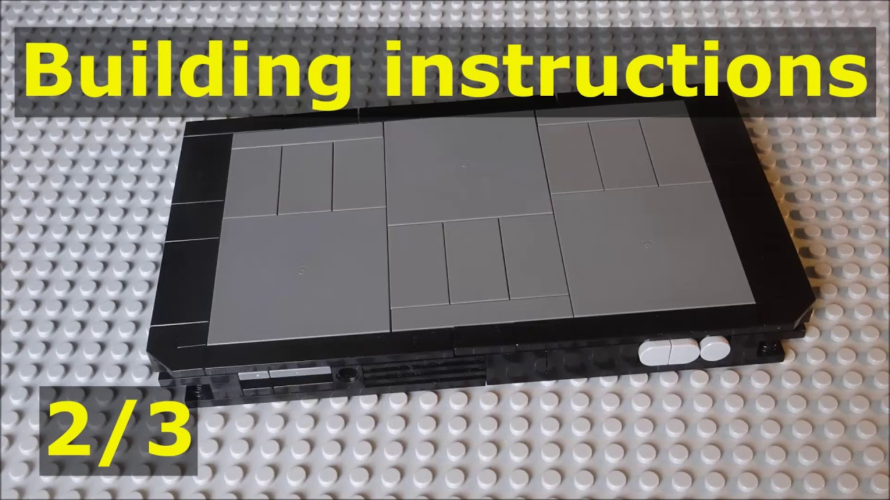 Building Instructions For Lego Nintendo Switch Moc 2 0 2 3 Youtube