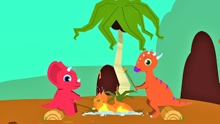Мультики про Динозавров для детей. Веселые Динозаврики Мультфильм. Машинки Мультики 2017 новинки