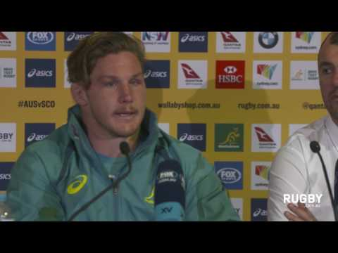 Full Press Conference: Cheika and Hooper