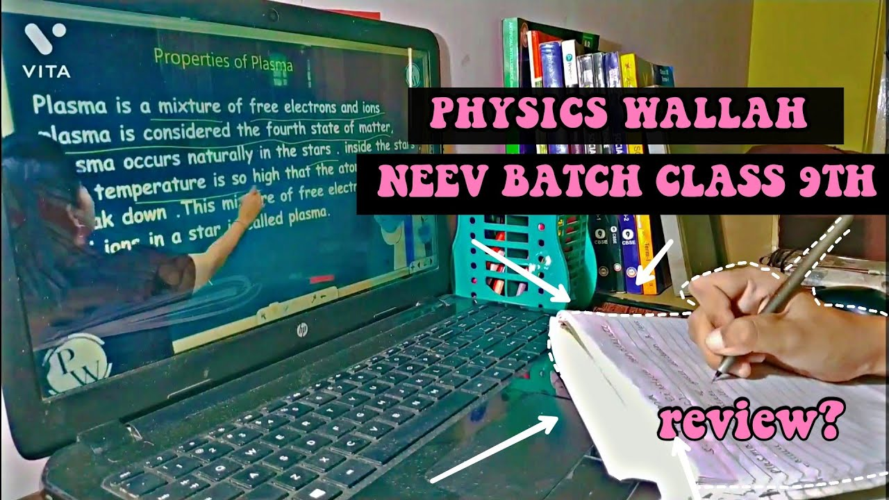 Download Attending Physics Wallah's NEEV batch class 9th! | review | study aesthetic
