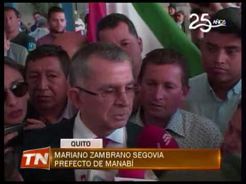 El prefecto Mariano Zambrano y su hijo rindieron versión en la fiscalía general