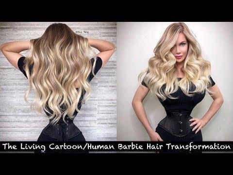 The Living Cartoon/Human Barbie Hair Transformation