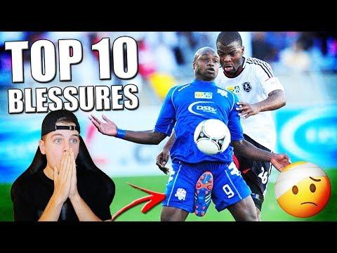 TOP 10 RAARSTE VOETBAL BLESSURES! GESLACHTSDEEL VERBRAND!!