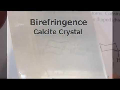 Birefringence of Calcite Crystals - Lu Le Laboratory