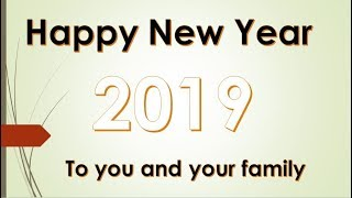 Happy New Year 2019 A glimpse of 2018's popular s Thanks for your Valuable Support