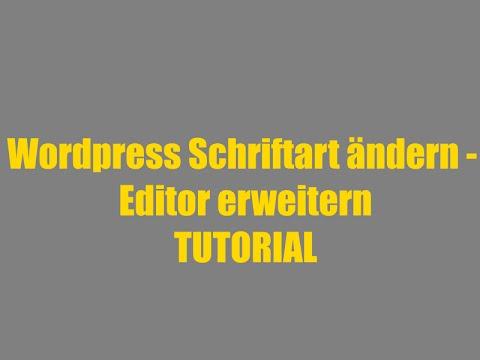WordPress Schriftart ändern