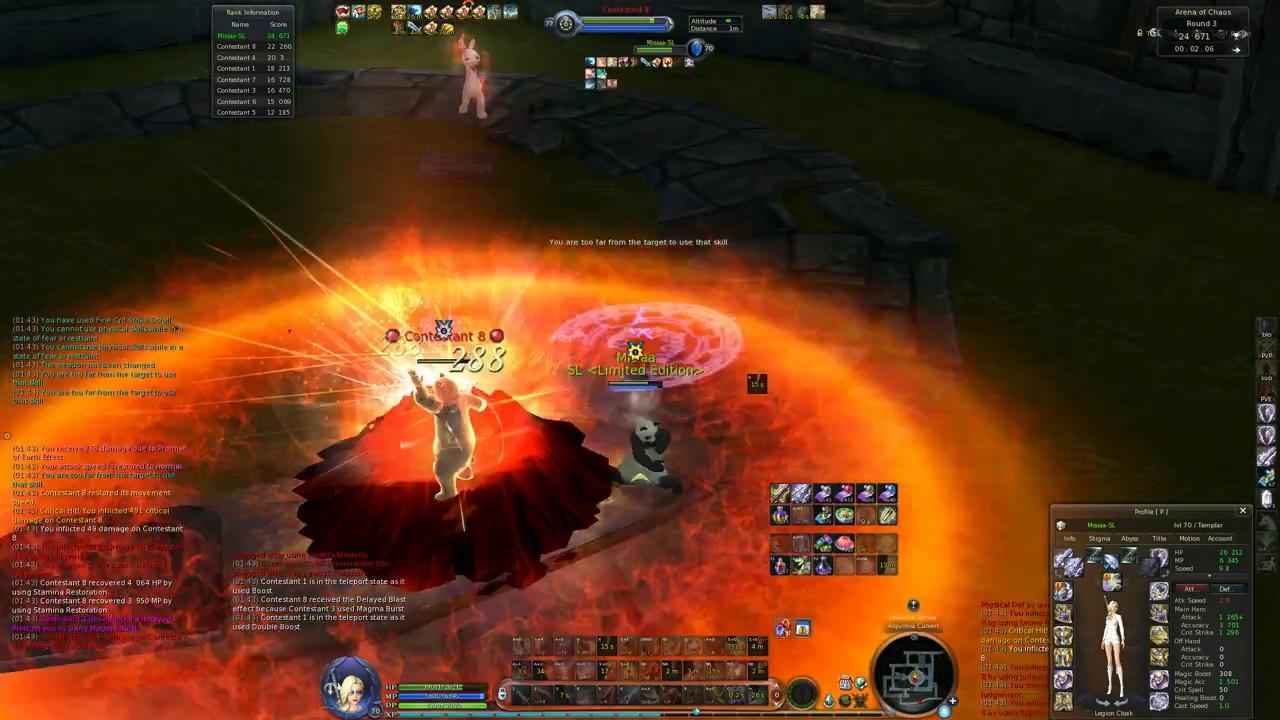 AION Arena of Chaos. Misiaa - Templar pvp.