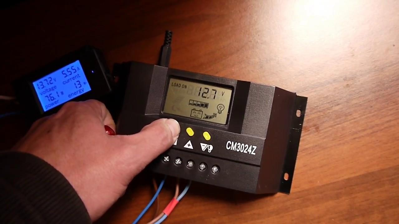 Test Pwm Solar Charge Controller Cm3024z 12 24v 30amps Youtube Details About 30a Regulator 12v 30amp
