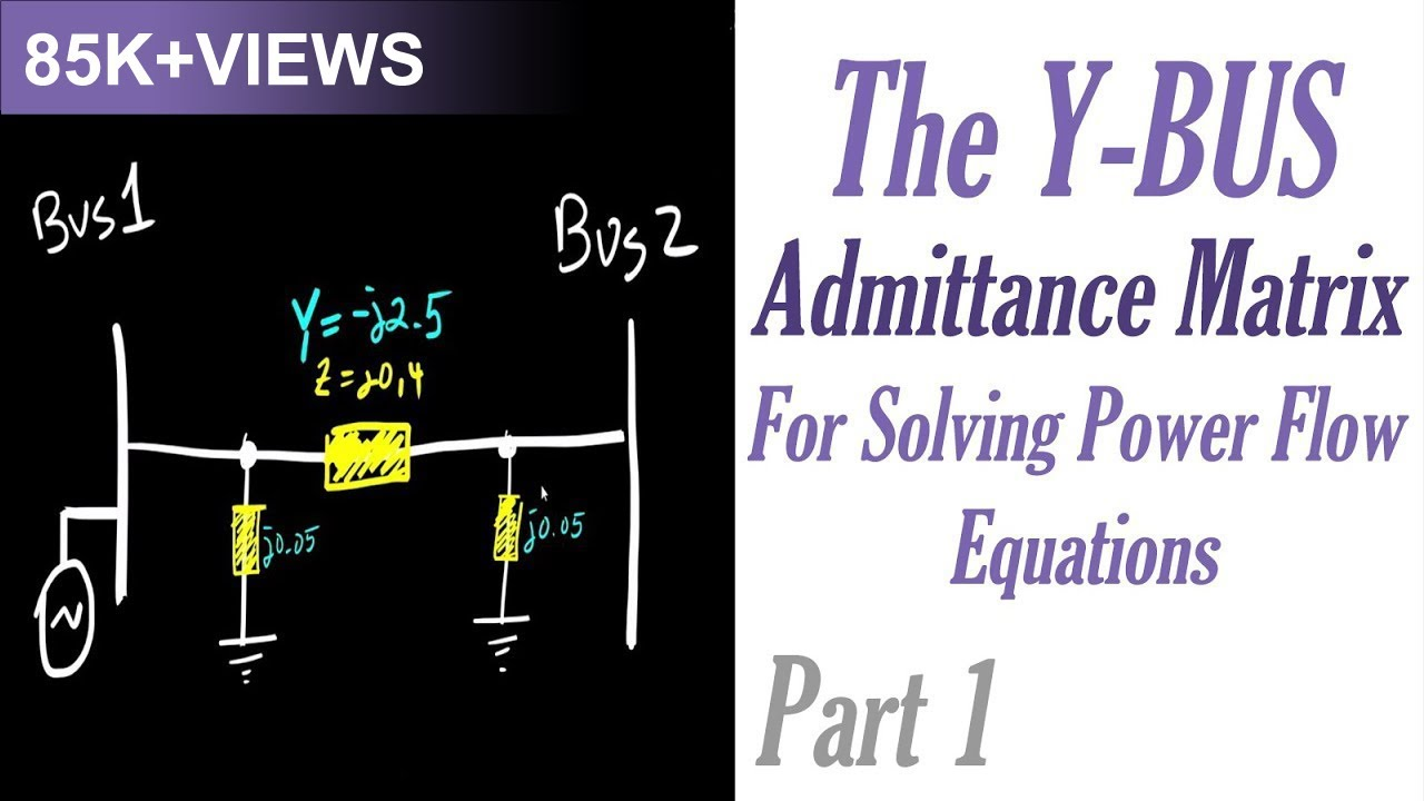 The Ybus Admittance Matrix for Solving Power Flow Equations Part 1