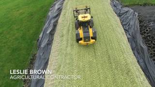 leslie brown agricultural contractor   maize   trailer video