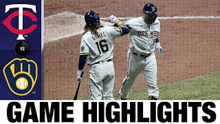 Piña, Gyorko power Brewers to 6-4 win | Twins-Brewers Game Highlights 8/11/20