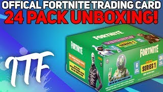 Unboxing 24 Packs of Fortnite Series 1 Trading Cards! (Fortnite Battle Royale)