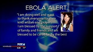 Young nurse fighting Ebola doing well