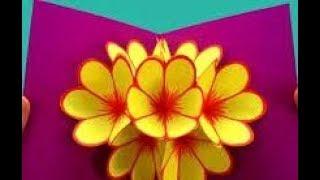 DIY 3D ОТКРЫТКИ \ МОЖНО ИСПОЛЬЗОВАТЬ на  ДЕНЬ МАТЕРИ, ДЕНЬ РОЖДЕНИЯ, 8 МАРТА/цветы из бумаги