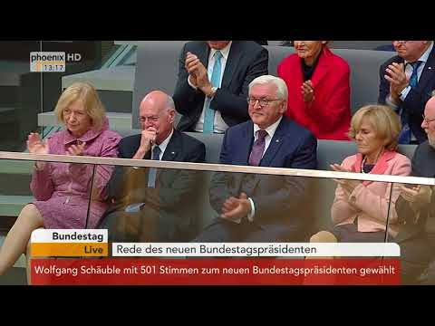Rede des neuen Bundestagspräsidenten Wolfgang Schäuble am 24.10.17