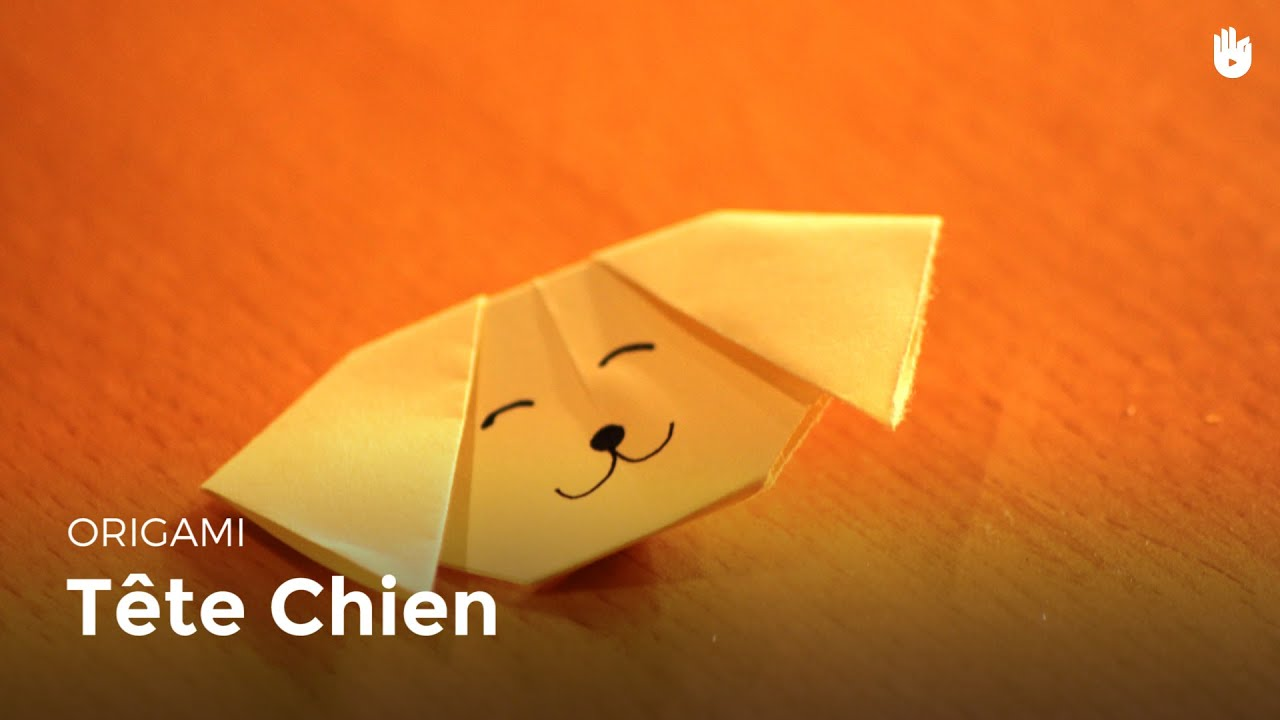 Origami t te de chien facile hd youtube - Origami youtube facile ...
