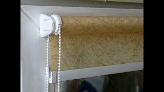 Правильная установка рулонной шторы на пластиковое окно