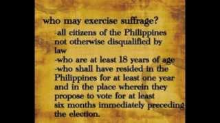 Right of Suffrage