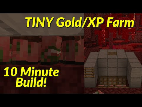 TINY Early Game Gold/XP Farm! 10 Minute Build! | Best, Easiest Minecraft Java/Bedrock 1.17+ Farms!