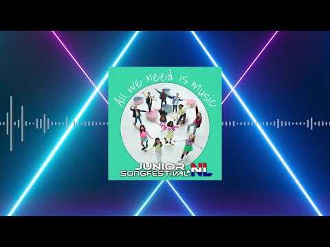 #17 FINALISTEN 2020 🔸 ALL WE NEED IS MUSIC 🎶✨ (OFFICIAL LYRICS) | JUNIOR SONGFESTIVAL 2020 🇳🇱