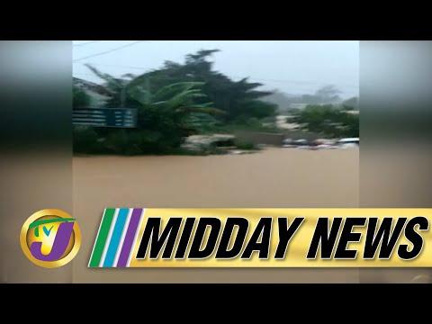 Tropical Storm Ida | Flash Flood Warning for Jamaica | TVJ Midday News - August 27 2021