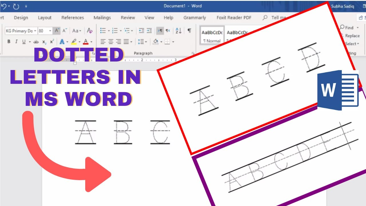 how to make tracing letters in microsoft word