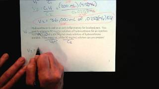 Chem 309 Solutions & Membranes Part 7 Dilution Calculations