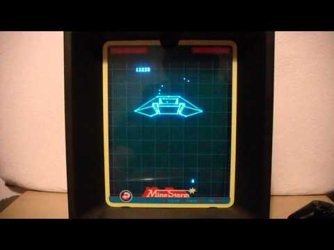 Mine Storm - Vectrex Gameplay (With Overlay)