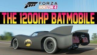 Forza Horizon 4 - INSANE Batmobile Remake W/ 1200HP Flat-12 Engine!!