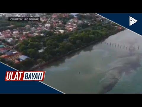 Isang power barge sa Iloilo, sumabog at tumagas ang langis