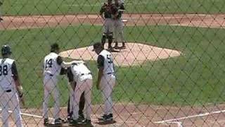 Minor league batter hit in face, this is crazy.