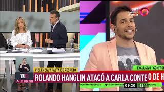 Rolando Hanglin atacó a Carla Conte