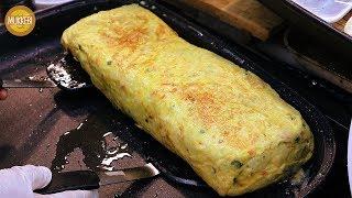 의정부 제일시장 │ 대왕 계란말이 │ Giant Rolled Omelette │ 한국 길거리 음식 │ Korean Street Food