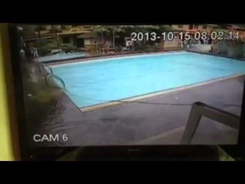 Bohol Philippines 7.2 earthquake CCTV real footage creates massive tsunami at pool side