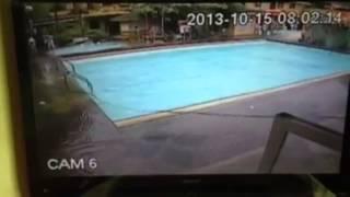 bohol philippines 7 2 earthquake cctv real footage creates massive tsunami at pool side