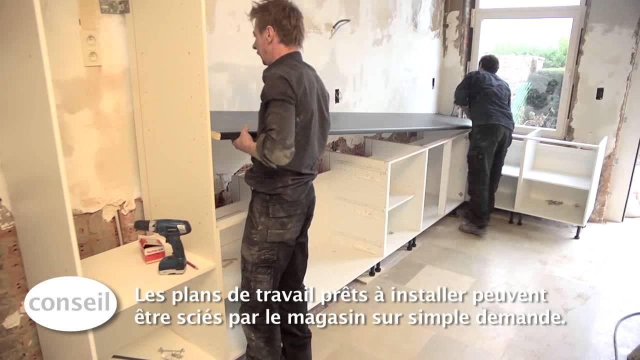 installer une cuisine et un plan de travail video bricolage gamma