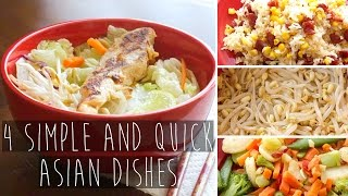 4 Quick and Easy Asian Recipe Dishes FOR COLLEGE | Eva Chung