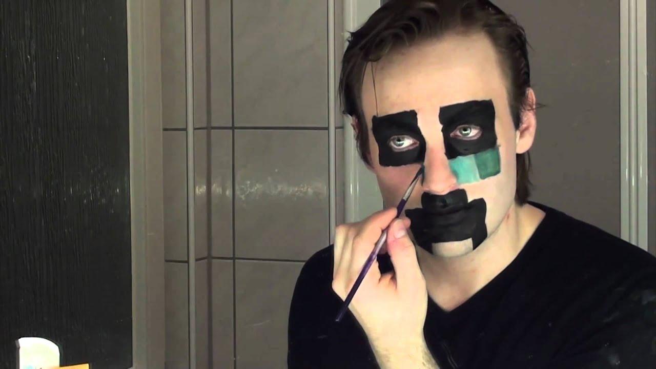 Halloween / Faschings Makeup: Creeper aus Minecraft - YouTube