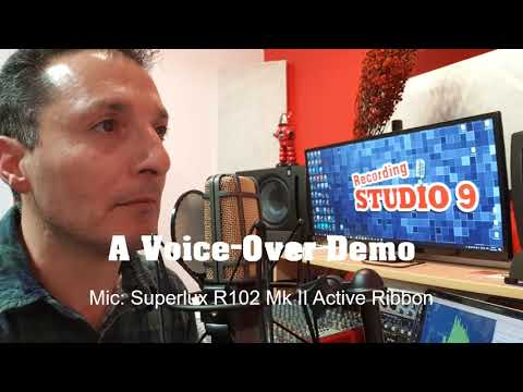 A Voice-Over DEMO using Superlux R102 Mk II Active Ribbon Microphone