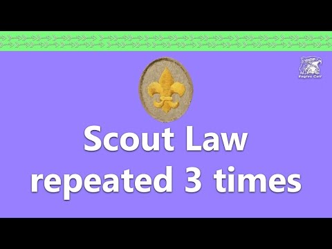 Scout Law Memorization - repeated 3 times