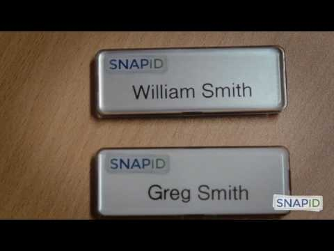 SNAP ID - Highest Quality Reusable Name Badge In The World!