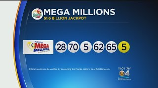 The new numbers are in for mega millions drawing worth an estimated jackpot of $1.6 billion!