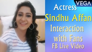 Actress Sindhu Affan Interaction with Fans | FB Live || Vega Entertainment
