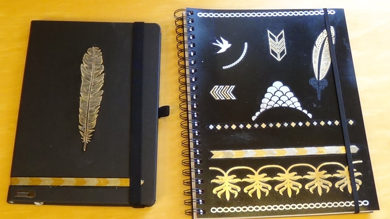 Tattoo Küchenrolle Diy Notizbuch Collegeblock Mit Flashtattoos Back To School