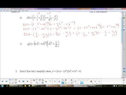 U2L4 Derivatives: The Product Rule Calculus Math 31