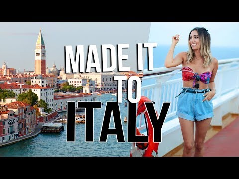 WE MADE IT TO ITALY!!! EUROPE CRUISE!!! Travel Vlogs!!!