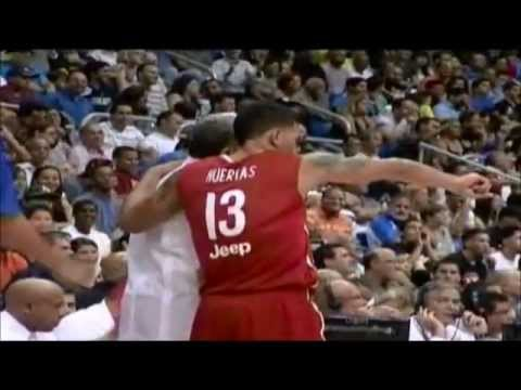 Dominicana vs Puerto Rico -4th Q -Part 2 -Centro Basket Masculino 2012