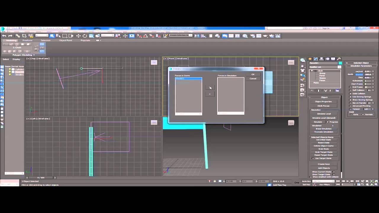 how to use wind in 3ds max