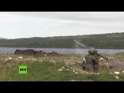 "Infantería Naval rusa: Ejercicios militares con misiles ""Igla"""